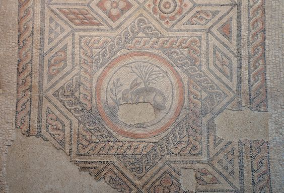 the Roman hare mosaic